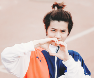 luhan, exo, and heart image