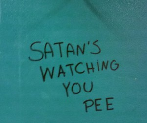 satan, pee, and grunge image