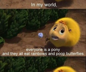 cute, pony, and butterfly image