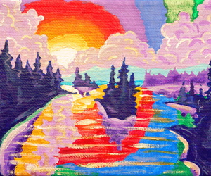 sunset, art, and colorful image