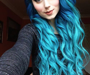 blue, hair, and cool image