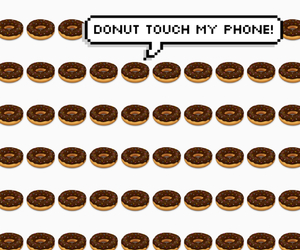 background, speech bubble, and donut image