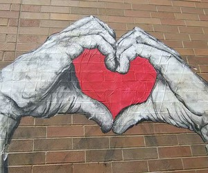 heart, wall, and hands image