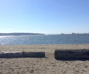 beach, beautiful, and vancouver image