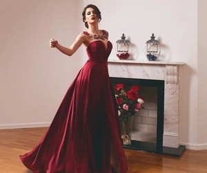 dress, red, and elegant image