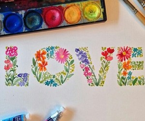 love, art, and flowers image
