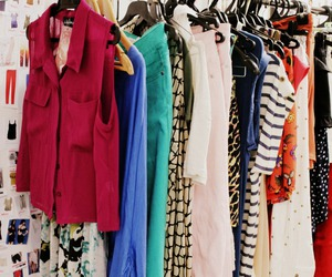 clothes, clothes rack, and clothing rack image