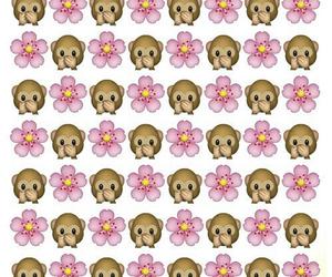 monkey, flowers, and emojis image