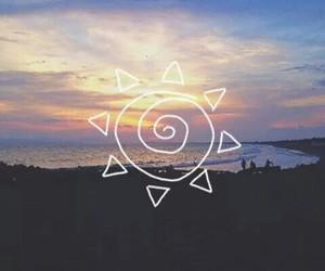 beach, sun, and wallpaper image
