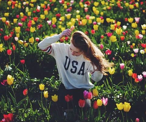 fashion, spring, and flowers image