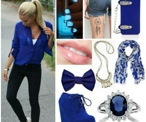 blue, casual, and date image