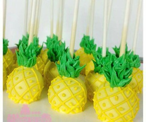cake pops, yummy, and pineapples image