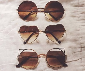 sunglasses, glasses, and heart image