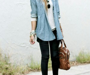 beautiful, denim, and cute image