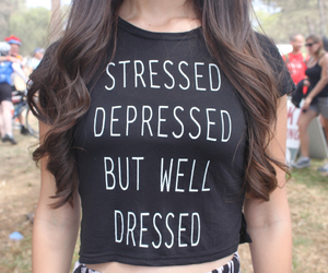 depressed, stressed, and shirt image