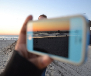 beach, iphone, and photography image
