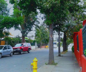chile+ and chile+santiago+fog+red+ image