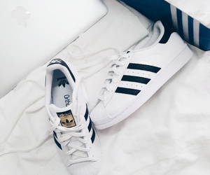 adidas, black and white, and macbook air image