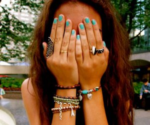 girl, nails, and bracelet image