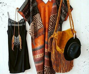 bag, dress, and boho image