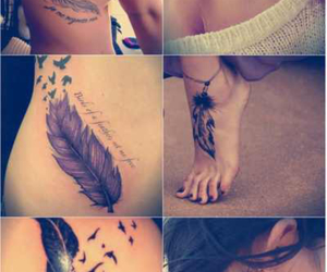 feather, tattoo, and small image