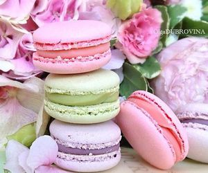 sweet, macarons, and macaroons image