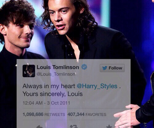 twitter, larry stylinson, and louis tomlinson image