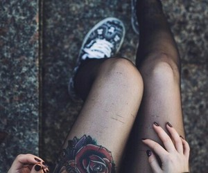 tattoo, grunge, and rose image