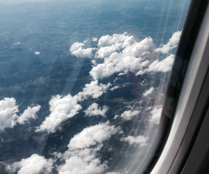 airplane, breathe, and clouds image