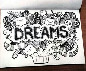Dream, art, and drawing image