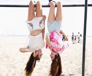 best friends, beach, and friendship image