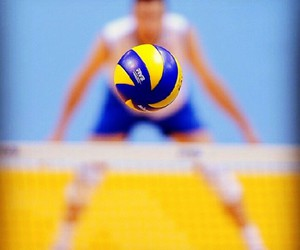 volleyball, sport, and love image