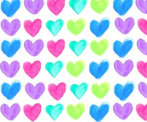 blue, green, and heart image