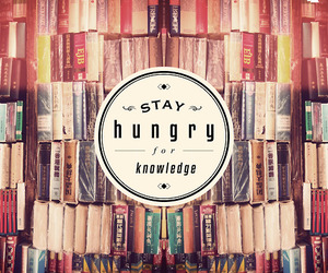 book, knowledge, and hungry image