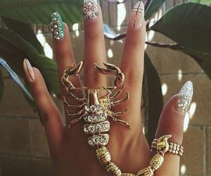 nails, ring, and gold image