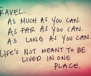place, travel, and love image