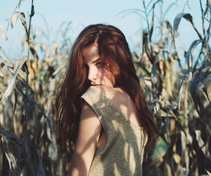 brunette, girl, and vintage image
