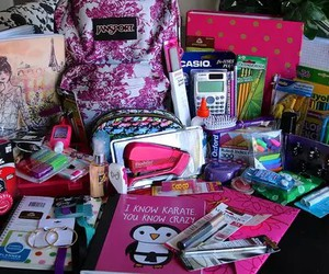 school, school supplies, and supplies image