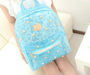 blue, backpack, and gold image