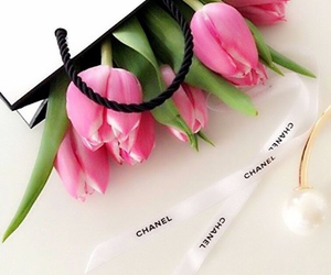 chanel, flowers, and tulips image