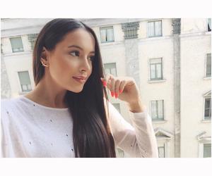 brunette, eyes, and girl image