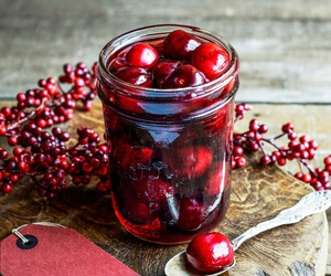 cherry, vodka, and food image
