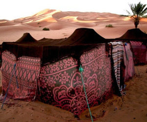 desert, morocco, and tent image