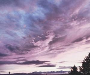 beautiful, purple, and sky image
