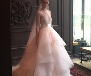 beautiful, spring, and wedding dress image