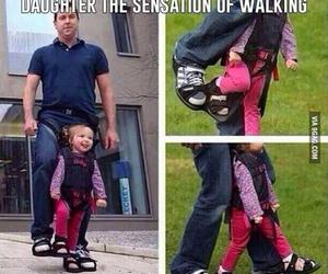 daughter, dad, and walk image