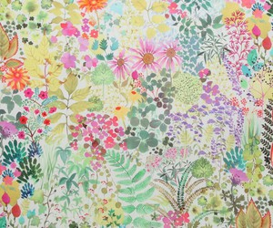 flowers, fabric, and pattern image