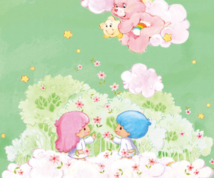 background, sanrio, and care bears image