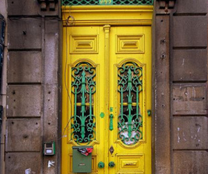 door, yellow, and architecture image