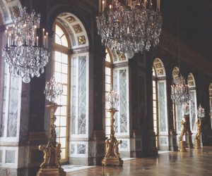 versailles, chandelier, and vintage image